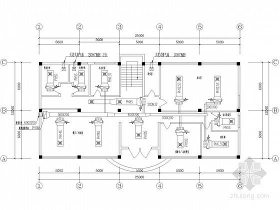 [广州]双层办公楼空调通风系统设计施工图(空调控制电路)