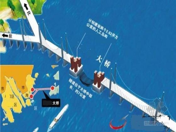 跨海大桥主体桥梁工程方案设计图52张(中国结斜拉桥38米宽钢箱梁)