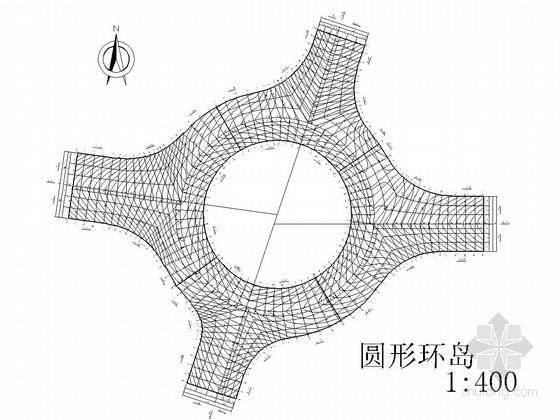 道路工程交叉口竖向设计通用图(10种 类型全面)