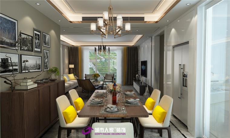 鲁能领秀城装修现代风格,适合多个年龄段客户需求
