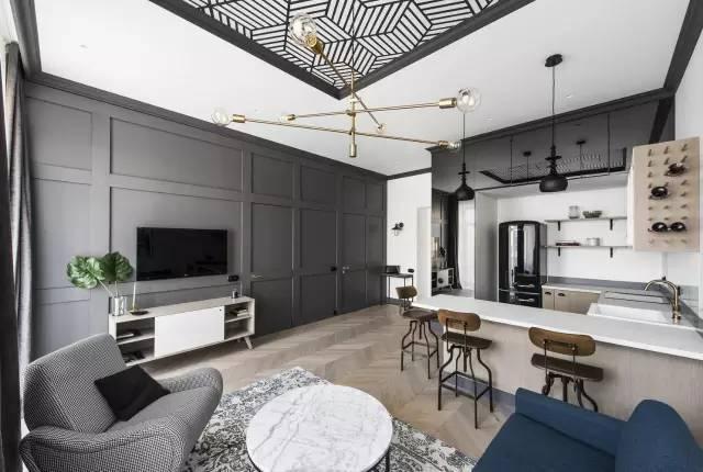 49m²小公寓也能精致无比,就爱这种黑白配!