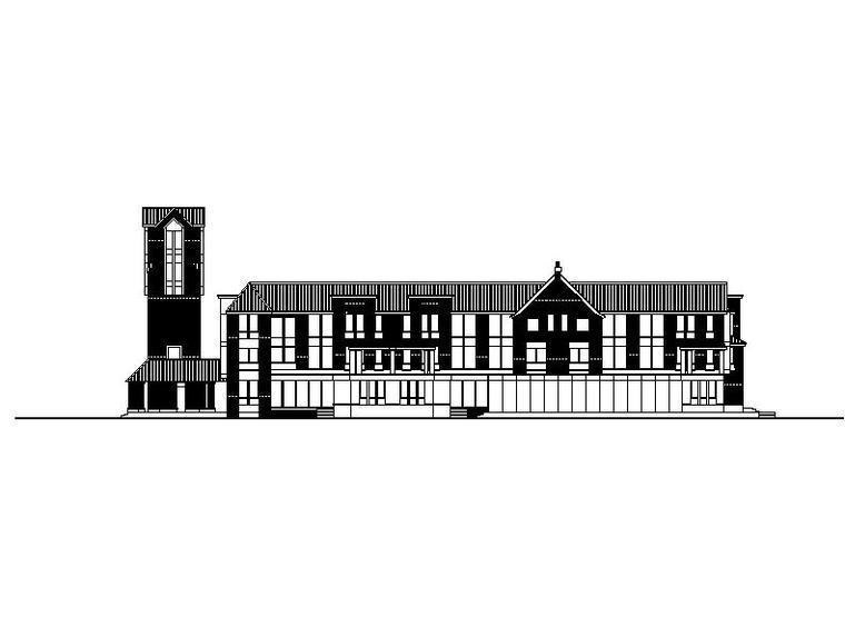 [合集]多套现代商业会所建筑施工图