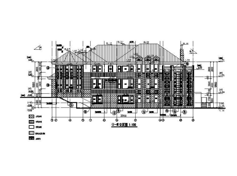 [深圳]三层金属瓦屋面独栋别墅建筑方案图