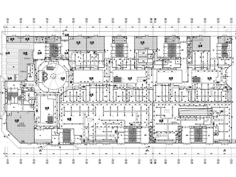 [湖北]高层商业办公综合楼暖通空调全系统设计施工图(冷热源设计)