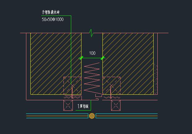8张经典变形缝及吊顶节点大样图_2