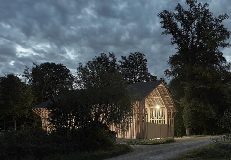 瑞士丛林木结构HolzkorporationDübendorf工厂-1