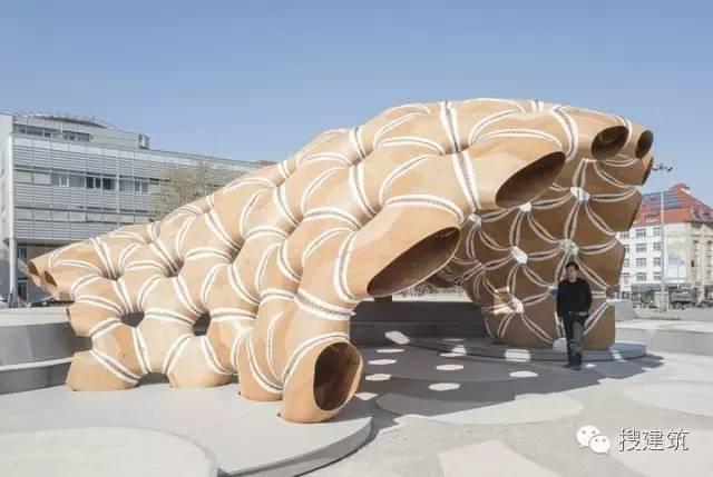 壳体结构的仿生研究!一个采用木材工业缝纫的建筑