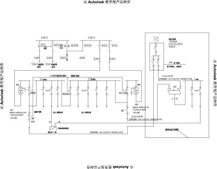 医院变配电室电气施工图纸