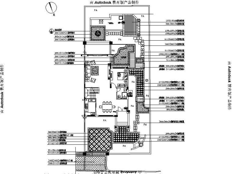 [河北]别墅样板房园林工程施工图(著名设计公司)