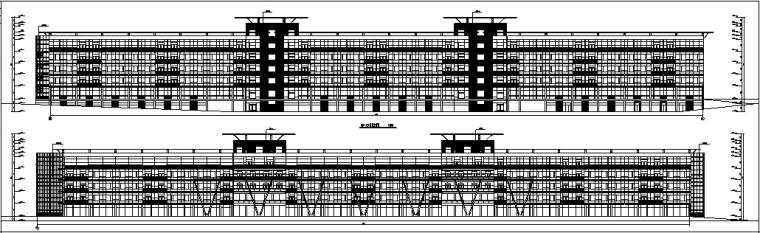 3套现代宾馆酒店建筑设计施工图CAD_16