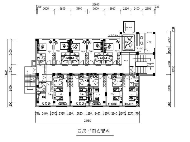 [四川]某八层商务宾馆设计CAD施工图