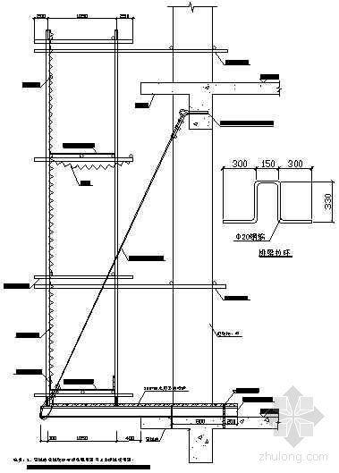 工字钢挑架卸荷示意图