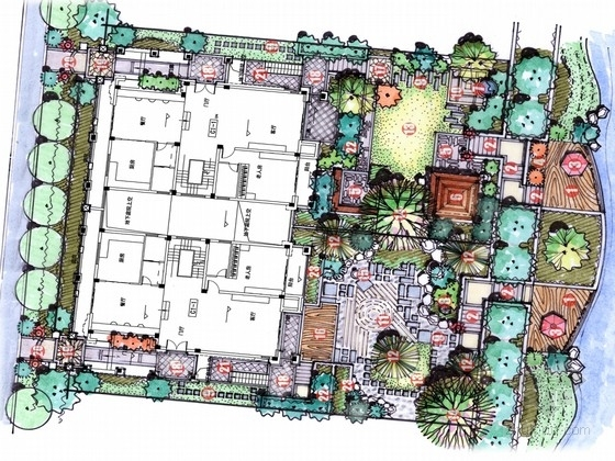 [合肥]雅致别墅酒店庭院景观设计方案