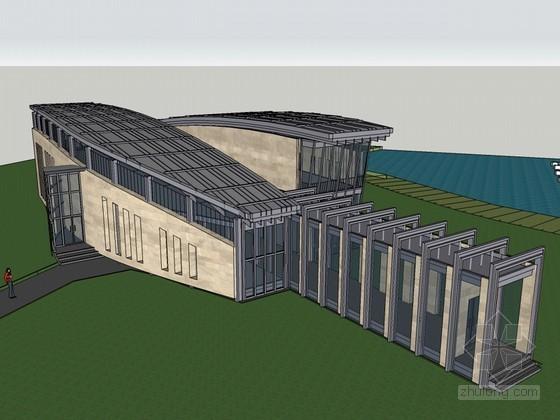 茶室建筑SketchUp模型下载