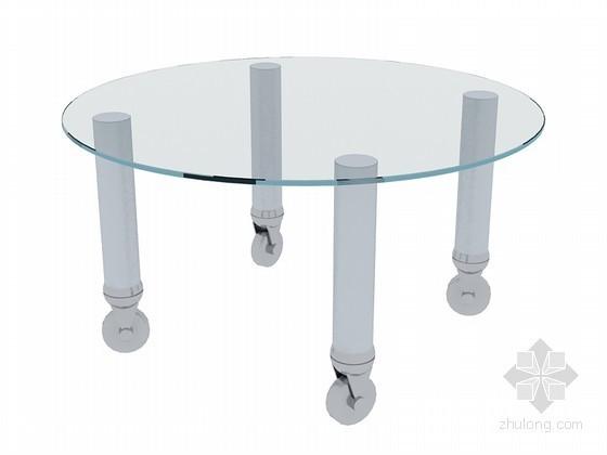 圆玻璃茶几3D模型下载