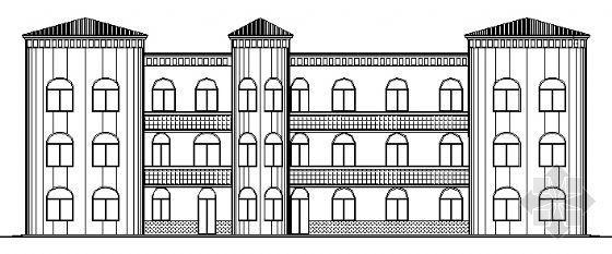 云海花园某三层幼儿园教学楼建筑施工图