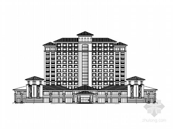 [广东]13层现代风格星级酒店建筑设计施工图