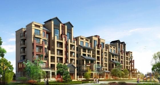 滨水大型居住区规划效果图