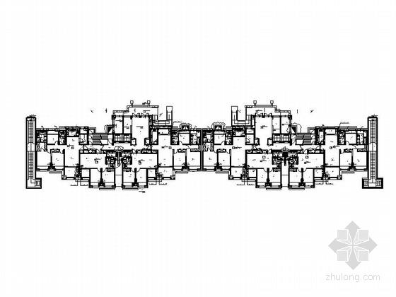 33层现代风格住宅楼平面图