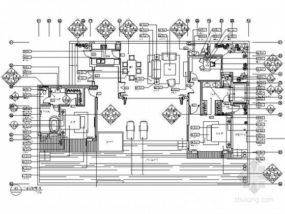 名师地中海B户型花园三居室样板房装修图(含效果)