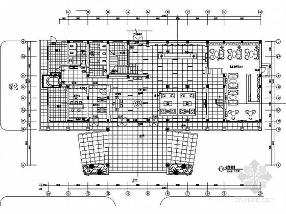 [湖南]品牌烟草制品工业公司综合服务楼装修设计施工图(含材料表及水电图)