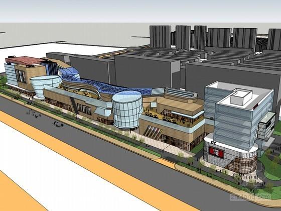 大型商业建筑SketchUp模型下载-大型商业建筑
