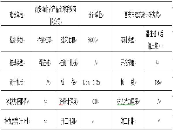 [西安]雨润一期桥梁桩基检测招标文件
