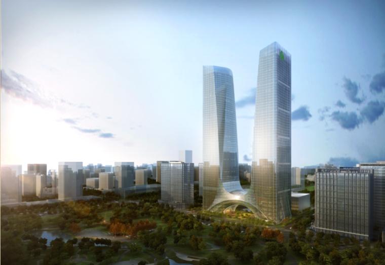 [郑州]超高层甲级办公楼及五星级酒店建筑设计方案文本