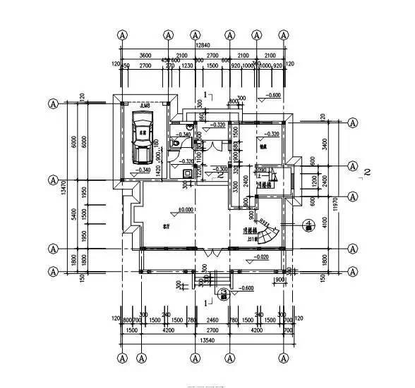 识读建筑平面图时,所需注意点