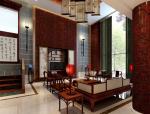 宽敞明亮中式客厅3D模型下载