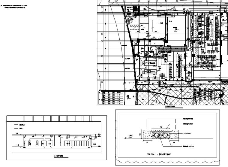 广州岭南新世界酒店机电设备施工图地下部分
