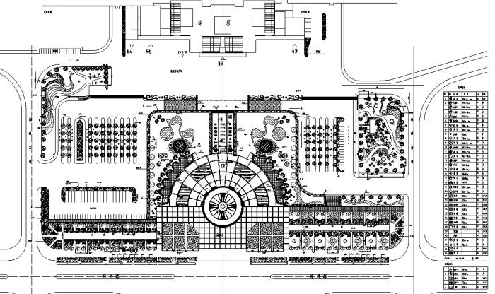 园林各类绿地景观设计CAD平面图346套(赠送CAD素材图库)-某火车站广场规划平面图