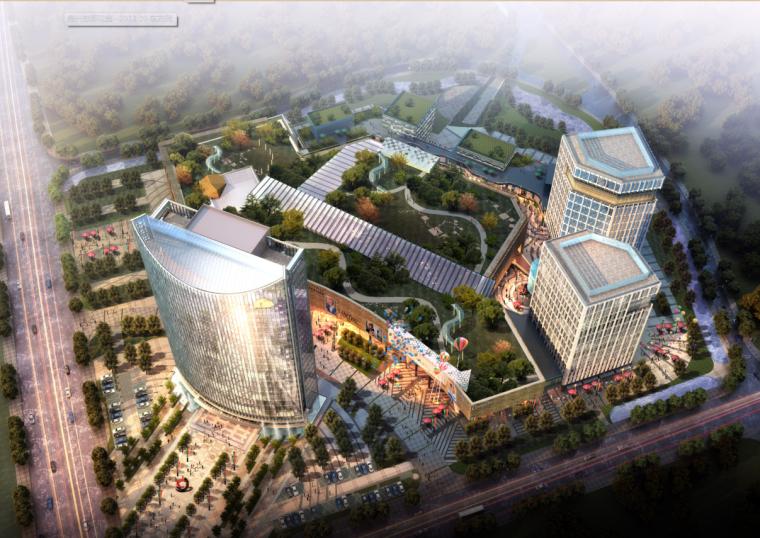 [浙江]高层现代经典风格商业及金融办公中心建筑设计方案文本_1