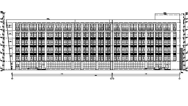 [山东]高层医院养老中心建筑施工图(含5座养老院建筑及全专业)