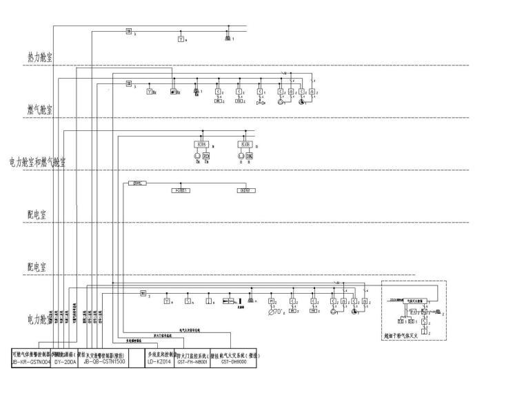 综合管廊消防报警系统图模板V1.0(设计院专用)