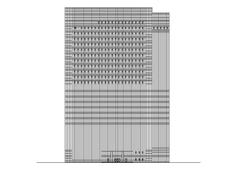 [四川]超高层幕墙立面塔式科研办公楼建筑施工图