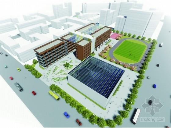 [合集]3套大型多功能市级小学建筑设计方案文本