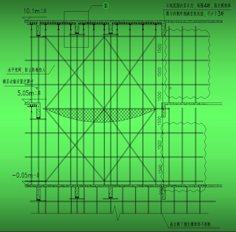 四层电器城盘扣式高支模专项施工方案(附图及计算书)