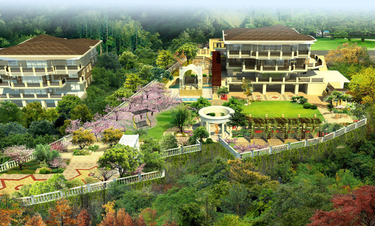 重庆冠领园林私家花园庭院设计:保利花园_4