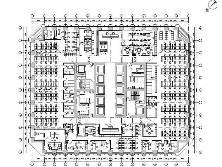 全套的简约风格办公区设计施工图(含效果图+预算)