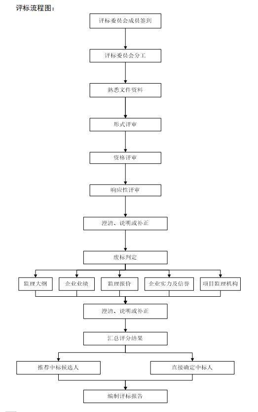 建设项目工程监理招标文件-评标流程