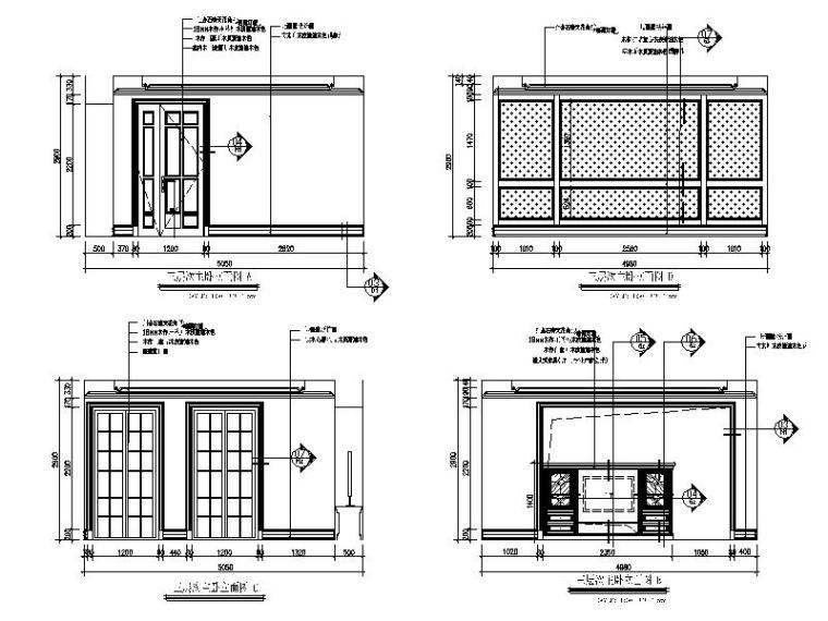 【浙江】某别墅样板间设计施工图(室内方案软装)_5