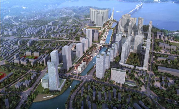 [江苏]后现代感武汉万达中央文化旅游区项目建筑设计方案文本_1