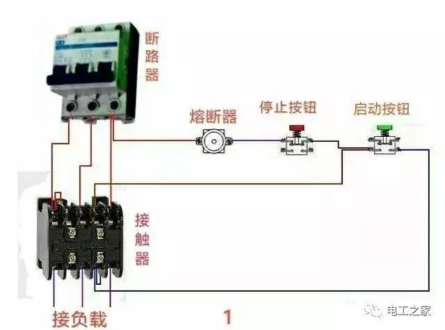 常用交流接触器实物接线图,觉得好可以收藏转发