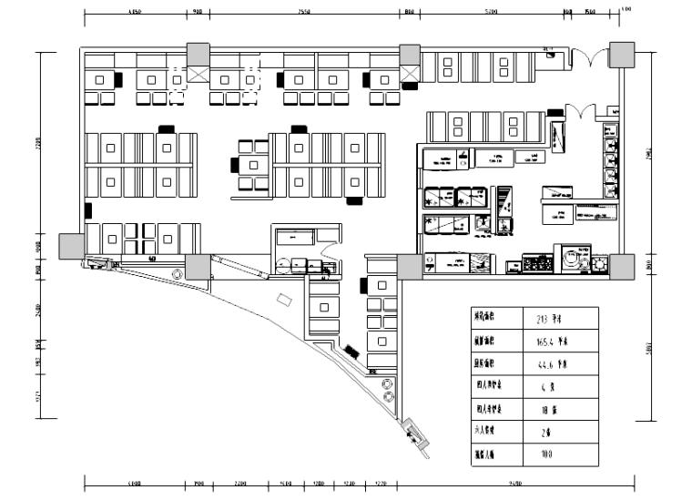 [山东]新中式风格餐厅装修全套施工图(附效果图)