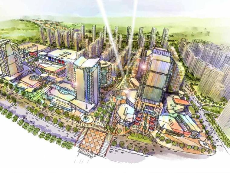[山东]万科青岛四方生态新都中心城市概念规划(现代商业)