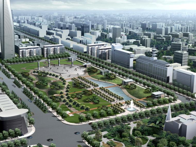 [河南]城市道路景观规划设计(绿色生态,理想城)