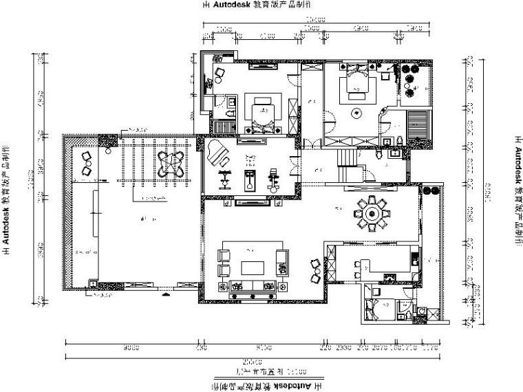 [广东]知名地产集团观城别墅样板房室内设计施工图(含效果图)