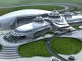 内蒙古少数民族文化体育运动中心屋面钢结构成功封顶