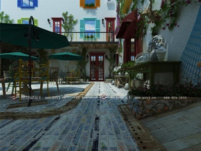 据说这是丹东最美的休闲度假民宿设计,快去瞧瞧-07内庭院日.jpg